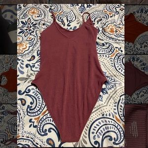Red/purple American Eagle body suit
